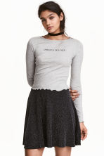 Cropped top - Grey - Ladies | H&M CN 1