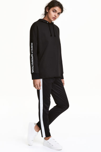 Joggers - Black/White - Ladies | H&M CN 1