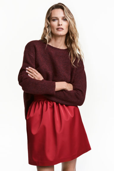 Gonna corta - Rosso scuro - DONNA | H&M IT 1
