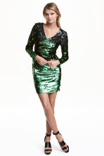 Sequined dress - Black/Green - Ladies | H&M GB 1