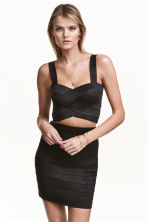 Top glitter corto - Nero - DONNA | H&M IT 1