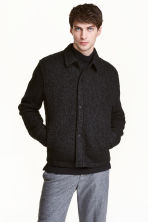 Bouclé shirt jacket - Black - Men | H&M CA 1