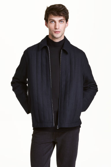 Padded shirt jacket - Dark blue - Men | H&M CN