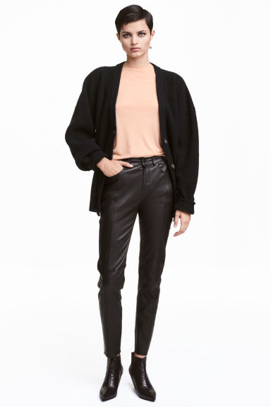 Leather trousers - Black - Ladies | H&M CN 1