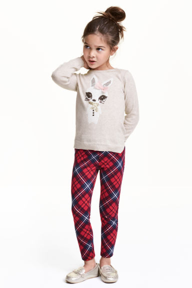 Treggings - Red/Checked - Kids | H&M CN 1