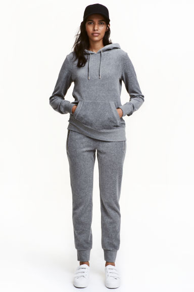 Joggers in velour - Grigio mélange - DONNA | H&M IT 1