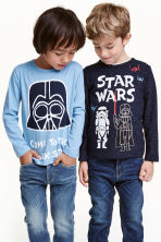 2-pack long-sleeved T-shirts - Blue/Star Wars - Kids | H&M CN 1