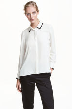 Camicetta colletto ricamato - Bianco - DONNA | H&M IT 1