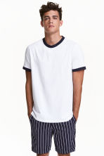 Short chino shorts - Blue/White striped - Men | H&M CN 1