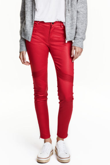 Skinny Ankle Biker Jeans - Red/Coating - Ladies | H&M CN 1