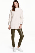 Coated treggings - Khaki green - Ladies | H&M CN 1
