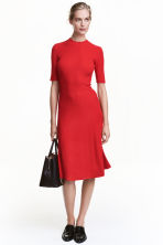 Ribbed dress - Red - Ladies | H&M CN 1