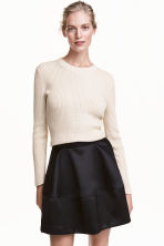 Satin skirt - Black - Ladies | H&M CN 1