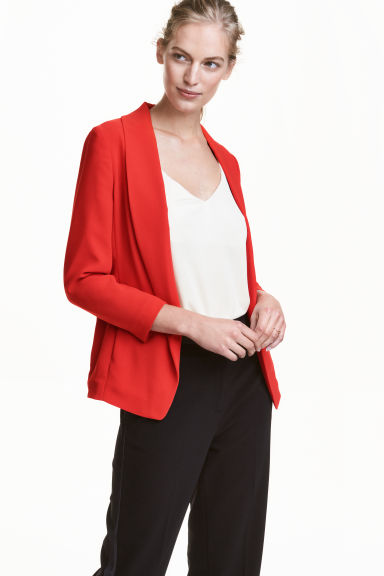 Shawl-collar jacket - Red - Ladies | H&M CN 1