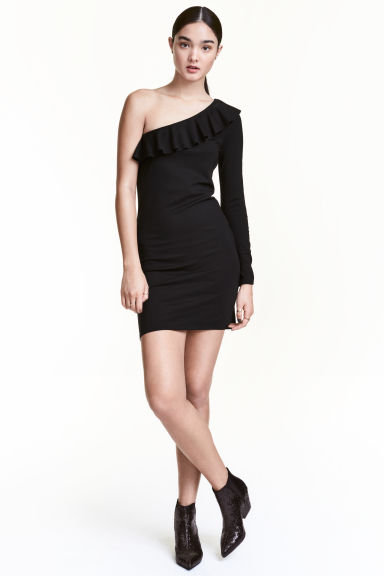 Abito monospalla - Nero - DONNA | H&M IT 1