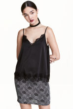 Glittery skirt - Black/Silver - Ladies | H&M CN 1