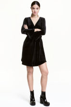 Wrapover dress - Black - Ladies | H&M 2