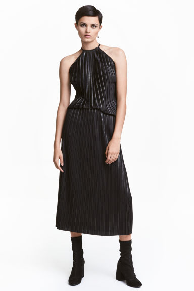 Gonna plissettata - Nearly black - DONNA | H&M IT 1