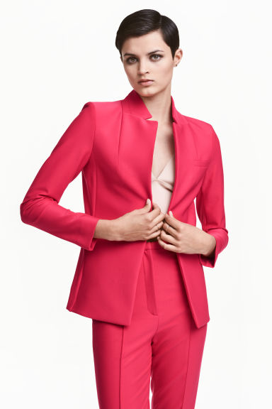 Jacket with a stand-up collar Model