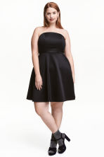 H&M+ Bandeau dress - Black - Ladies | H&M CN 1