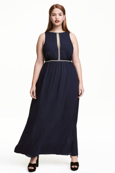 Maxi dress - Dark blue - Ladies | H&M CN 1