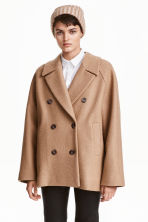 Short wool coat - Beige - Ladies | H&M CN 1