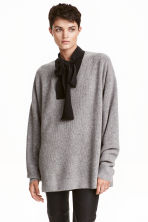 V-neck cashmere jumper - Grey marl -  | H&M CN 1