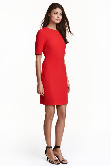 Crêpe dress - Red - Ladies | H&M GB 1