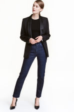 Straight Regular Jeans - Dark denim blue - Ladies | H&M CN 1