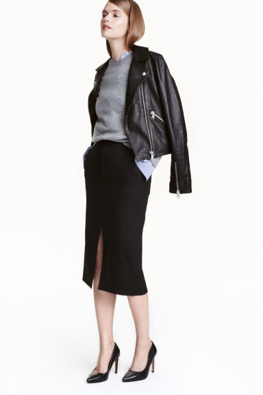 Wool-blend pencil skirt Model