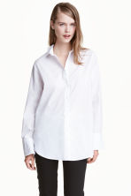 Premium cotton shirt - White - Ladies | H&M CA 2