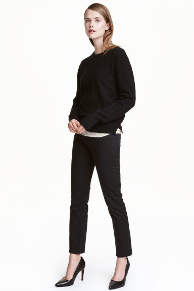 Straight Regular Jeans - 黑色/Stay black水洗 - 女士 | H&M CN 1