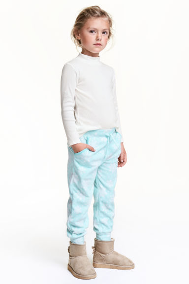 Fleece trousers - Light turquoise - Kids | H&M CN 1