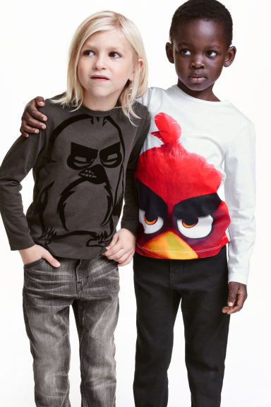 T-shirt a maniche lunghe, 2 pz - Bianco/Angry Birds -  | H&M IT 1