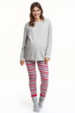 MAMA Pyjamas - Grey/Red - Ladies | H&M GB 1