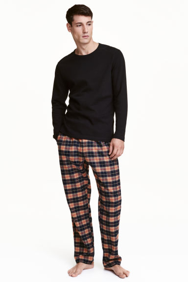 Pyjamas - Black/Checked - Men | H&M CN 1