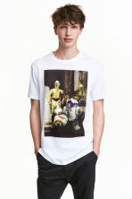 Printed T-shirt - White/Star Wars - Men | H&M CN 1