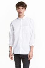 Cotton shirt - White - Men | H&M CN 1