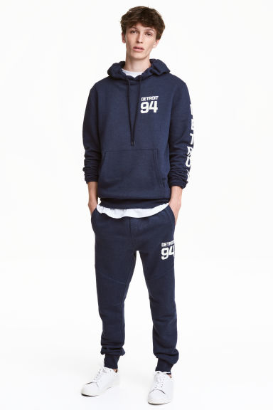 Joggers - Dark blue/Detroit - Men | H&M CN 1