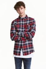 Flannel shirt - Red/White - Men | H&M CN 1