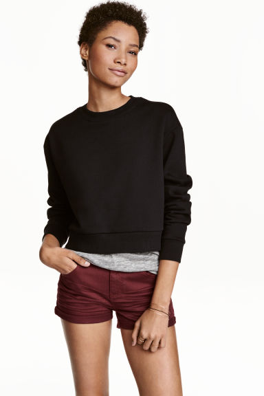 Twill shorts - Burgundy - Ladies | H&M CN 1