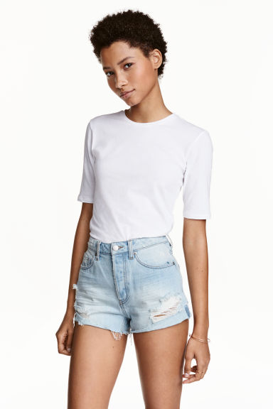 Shorts in denim Trashed - Blu denim chiaro - DONNA | H&M IT 1