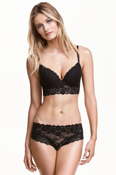 Lace hipster briefs - Black - Ladies | H&M CN 1