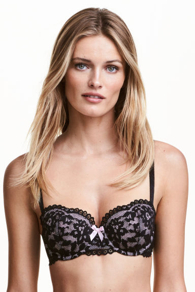 Lace balconette bra - Black - Ladies | H&M CN 1