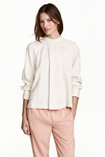 Patterned blouse - Natural white - Ladies | H&M CN 1