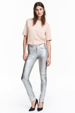 Stretch coated trousers - Silver - Ladies | H&M CN 1