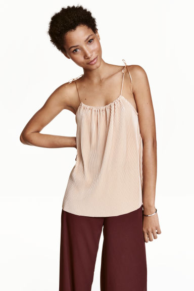Top plissettato - Beige chiaro - DONNA | H&M IT 1