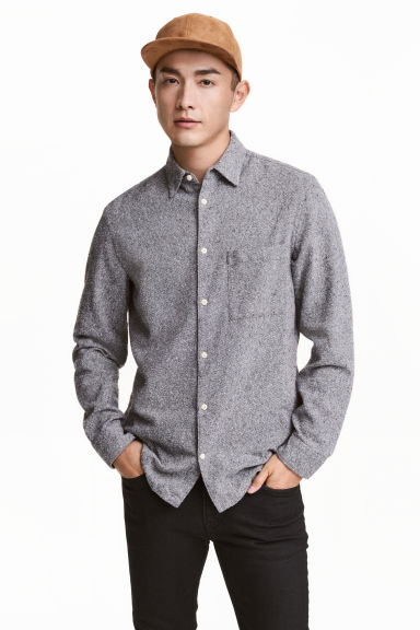 Shirt Relaxed fit - Grey marl - Men | H&M CN