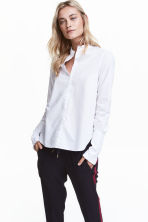 Cotton blouse with frills - White - Ladies | H&M GB 1