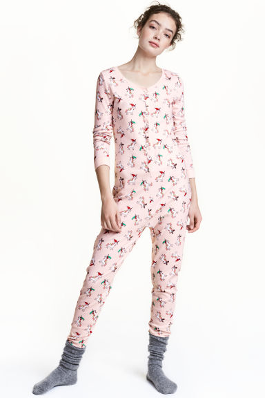 All-in-one pyjamas - Pink/Unicorn - Ladies | H&M CN 1